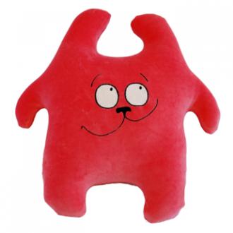 Игрушка-антистресс Заяц Хрустик красный 45 см