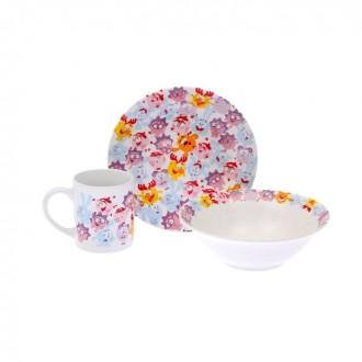 """Набор """"Смешарики""""(кружка 240 мл, миска 18 см, тарелка 19 см) под заказ"""