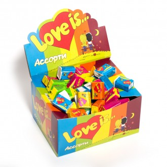 Жевательная резинка LOVE IS... в ассортименте