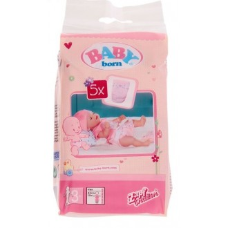 Памперсы 5 шт для куклы Baby born