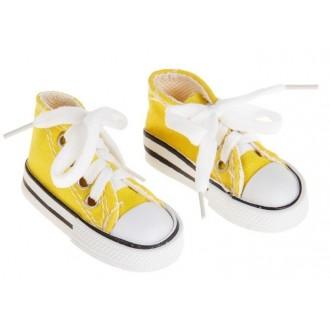 Кеды для игрушек, длина стопы 7,5 см, цвет желтый