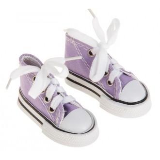 Кеды для игрушек, длина стопы 7,5 см, цвет фиолетовый