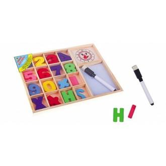 """Деревянная игрушка. Учимся считать. Набор для счёта """"СЧИТАЙ И ПИШИ"""" с маркером"""