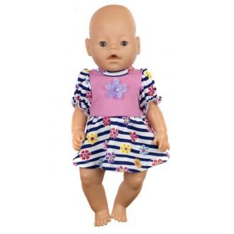 """Одежда для кукол Baby Born """"Платье"""" р. 38-43 см"""