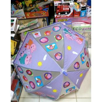 Зонтик детский Пеппа сиреневый (70 см)