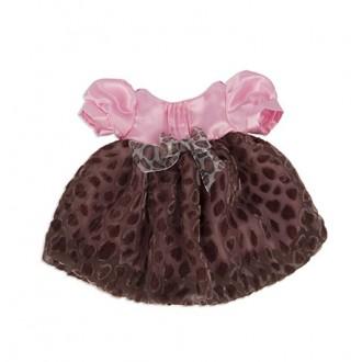 Розовое платье с атласным верхом и леопардовой юбкой