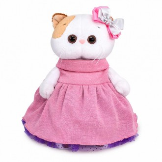 Кошечка Ли-Ли в платье с люрексом (24 см)