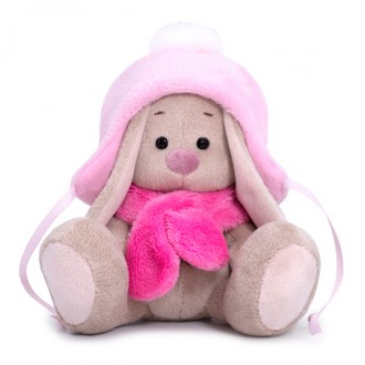 Зайка Ми в шапке с помпоном и шарфе (малыш) 15 см