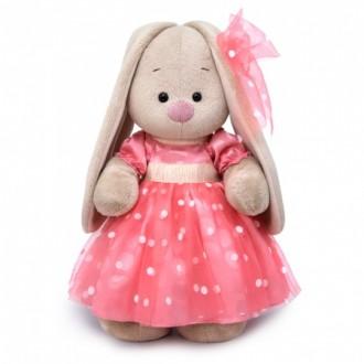 Зайка Ми в розовом платье (25 см)