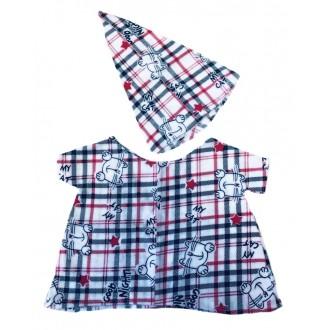 Ночная сорочка с кошками и колпачок для сна. Комплект одежды для Ли-Ли или Басика