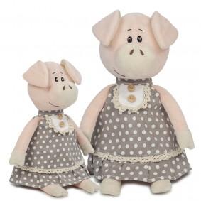 Свинка Ниночка в платье (22 см)