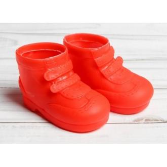 """Ботинки для куклы """"Липучки"""", длина подошвы 7,5 см, цвет красный"""