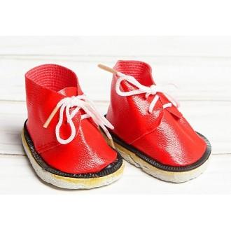 """Ботинки """"Завязки"""", длина подошвы 6 см, красные"""