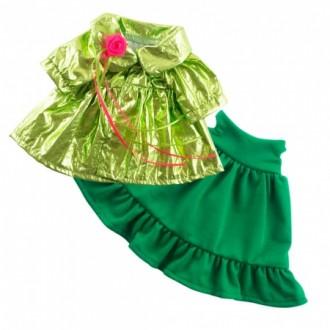 Зеленое платье и блестящий плащ BudiBasa для Заек Ми 25 см