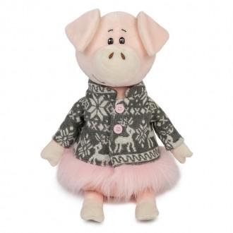 Свинка Ниночка в Пальто с Оленями (22 см)