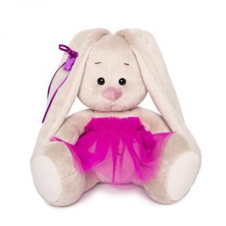 Зайка Ми в пурпурной юбочке «фонарик» (малыш) 15 cм