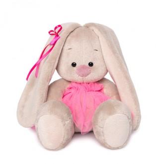 Зайка Ми в ярко-розовой юбочке «фонарик» (малыш) 15 см