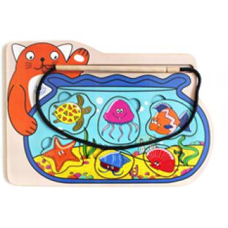 Обучающая доска «Кот-рыбак»