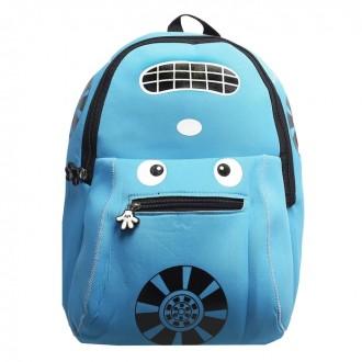 Рюкзак Авто, 22*8*33см, отдел на молнии, голубой (под заказ)