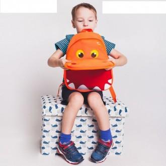 Рюкзак Бегемот, 22*8*33см, отдел на молнии, оранжевый