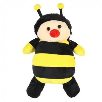 """Мягкий рюкзак """"Пчелка"""" красный носик  32 см × 21 см (под заказ)"""