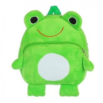 """Мягкий рюкзак """"Веселый лягушонок"""" 30 см × 26 см (под заказ)"""