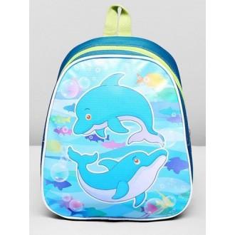 """Рюкзак на молнии """"Дельфин"""", 1 отдел 25 см × 10 см × 22 см"""