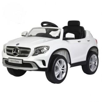 Детский электромобиль Mercedes-Benz GLA 12V с открывающимися дверьми белый