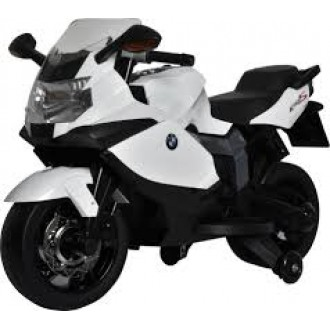 Электромотоцикл BMW 6V, цвет белый